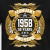 February 1958 59 Years Of Being Awesome - Men's Premium T-Shirt