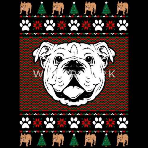 bulldog ugly christmas sweater by xmasdesigns spreadshirt