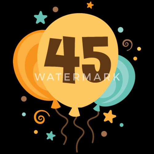 45th Birthday Balloons Party Mens Premium T Shirt