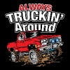 Chevy Truckin Around Red - Men's Premium T-Shirt