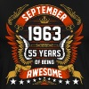 September 1963 55 Years Of Being Awesome - Men's Premium T-Shirt