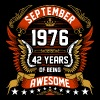 September 1976 42 Years Of Being Awesome - Men's Premium T-Shirt