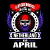 Legends born in Netherland and April - Men's Premium T-Shirt