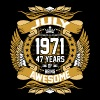 July 1971 47 years of being awesome - Men's Premium T-Shirt