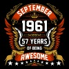 September 1961 57 Years Of Being Awesome - Men's Premium T-Shirt