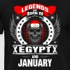 Legends born in Egypt and January - Men's Premium T-Shirt
