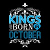 Kings Are Born In October Happy Fathers Day - Men's Premium T-Shirt