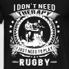 Rugby player - I don't need therapy - Men's Premium T-Shirt