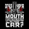 Mustang Does your mouth run as fast as your car - Men's Premium T-Shirt