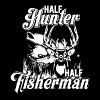 Half Hunter Half Fisherman Shirt - Men's Premium T-Shirt