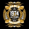 July 1974 44 years of being awesome - Men's Premium T-Shirt