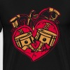 HEART ENGINE PISTON DIESEL MECHANIC SHIRT - Men's Premium T-Shirt