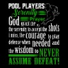 Pool Players Serenity Prayer T Shirt - Men's Premium T-Shirt