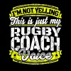 Funny Rugby coach: My Rugby Coach Voice - Men's Premium T-Shirt