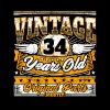 Funny 34th Birthday Shirt: Vintage 34 Years Old - Men's Premium T-Shirt