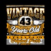 Funny 43th Birthday Shirt: Vintage 43 Years Old - Men's Premium T-Shirt