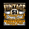 Funny 51th Birthday Shirt: Vintage 51 Years Old - Men's Premium T-Shirt