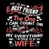 He is my best friend my shoulder to lean on the on - Men's Premium T-Shirt