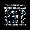 This t-shirt was tested on animals and they looked - Men's Premium T-Shirt