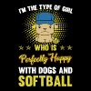 PERFECT GIRL WITH DOG AND SOFTBALL - Men's Premium T-Shirt