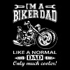 I'm a biker dad like a normal dad only much cooler - Men's Premium T-Shirt