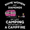 Some women love diamonds but i love camping and th - Men's Premium T-Shirt