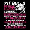 Pit bulls do have a voice if you ignore their suff - Men's Premium T-Shirt