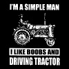 im a simple man i like boobss and driving tractor - Men's Premium T-Shirt