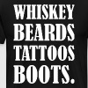 Whiskey Beards Tattoos Boots - Men's Premium T-Shirt