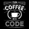 I turn coffee into code - Men's Premium T-Shirt