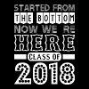 Started From Bottom Now We Are Here Class Of 2018 - Men's Premium T-Shirt