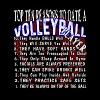 VOLLEYBALL TOP TEN REASONS TO DATE SHIRT - Men's Premium T-Shirt