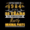 Vintage made in 1984 - 33 years to perfection (v.2017) - Men's Premium T-Shirt