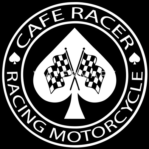 Cafe Racer Racing Motorcycle Ace Of Spades Mens Premium T Shirt