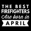 The best Firefighters are born in April - Men's Premium T-Shirt