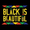 Black Is Beautiful (Yellow Letters) - Men's Premium T-Shirt