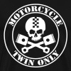 Motorcycle twin only skull and pistons - Men's Premium T-Shirt