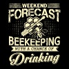 Weekend Forecast Beekeeping T Shirt - Men's Premium T-Shirt