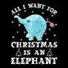 All I want gor Christmas is an Elephant - Men's Premium T-Shirt