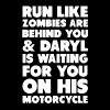 run like zombies are behind you and daryl is waiti - Men's Premium T-Shirt