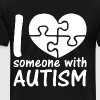I Love Someone With Autism - Men's Premium T-Shirt