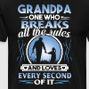 Grandpa one who breaks all the rules and loves eve - Men's Premium T-Shirt