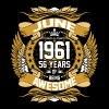 June 1961 56 Years Of Being Awesome - Men's Premium T-Shirt