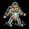 Tribal Bigfoot Shirt Funny Cool Artwork Sasquatch - Men's Premium T-Shirt