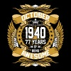 October 1940 77 Years Of Being Awesome - Men's Premium T-Shirt