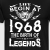 Life Begin At 50 - 1968 The Birth Of Legends - Men's Premium T-Shirt