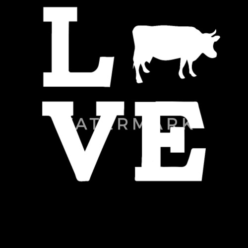 Love Cow Funny Animal Farm Cow Print Gift T Shirt By Spreadshirt