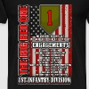 1st Infantry division - The big red one - Men's Premium T-Shirt
