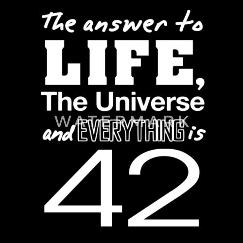 3698a0afd2b The answer is 42 Men s Premium T-Shirt