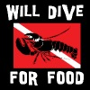 SCUBA Will Dive For Food - Men's Premium T-Shirt